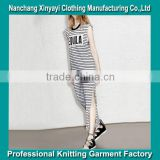 2015 New arrival Summer Women Dresses For Mature Women Wear With High Vent from Direct Factory In China