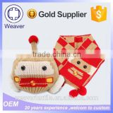 Best Selling Hot Chinese Products Knit Hat Pattern Children Wool Winter Hat and Scarf Set
