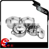 caitang stainless steel cookware set/ cooking utensil/ indian soup pot