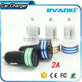 Cheap Wholesale input 12V 24V Aluminum Dual USB Car Charger for iphone Promotional customized mini Universal USB Car Charger