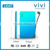 emergency usb power bank portable battery charger 5000mah vivi power bank with slim design
