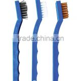 3-Piece Multi-Purpose Single Sided Gun Cleaning Brush Set Nylon, Bronze and Stainless Steel