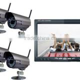 RV-7001WS Digital Wireless Car Rearview parking System with Quad Monitor Ideal for Reversing, home office monitoring