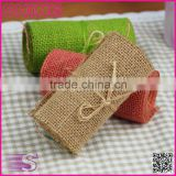 10*155CM Jute Burlap colourful simple pastoralism customized DIY decoration jute roll