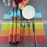 NEW placemat pvc mats set Western modern hotel high quality rainbow placemat multi strip print pad mats classics placemats