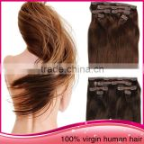 2015 Fashion Clip In Hair Remy Straight Unprocessed Brazillian Human Hair