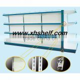 Doublt sides metal display supermarket shelf & gondola shelf made in ChinaProduct Details: 1.Upright Size Optional: 30*30/60/