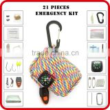 outdoor survival camping gear paracord grenade