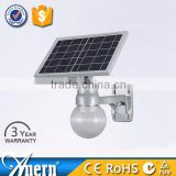 made in China waterproof 6w solar ball garden light with Light /Remote/Microwave Control