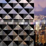 visfilm gradient black triangle decorative window film lowes