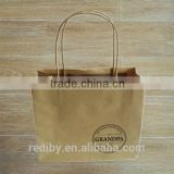 Wholesale Custom Logo Printing Take Away Bread Packaging Fast Food Paper Bag Print                                                                         Quality Choice