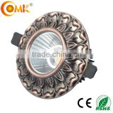 guangdong classic 12watt led downlight recessed led lighting housing with led light warm white