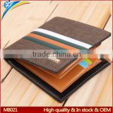 Purses factory 2015 Best selling men standard size wallet Trend korea striped design money clip