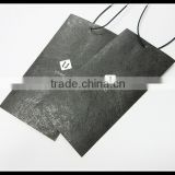 Silk-Screen-Print-Gold-Foil-Jeans-Paper Printing Custom Logo hang tags for garment customized card