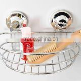 made in China stainless steel basket high loading capacity storage basket with double plastic suction cup