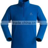 half zip polar fleece pullover for men