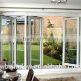 Latest design PVC/UPVC folding door with grilles inserts for the garden,PVC/UPVC windows and doors
