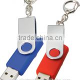 Most popular custom branded logo printing bulk 1GB, 2gb, 4gb, 8gb swivel type usb flash pen drive with key chain