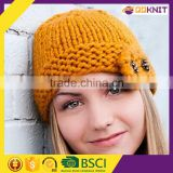 sunny shine knit beard beanie hat winter hand knitted hat