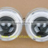 Integrated structure double angel eyes car hid bi-xenon projector lens, all in one for headlight