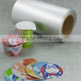 Lacquer coated aluminum lidding foil for packaging yoghurt                                                                         Quality Choice
