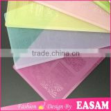 Fashion OEM transparent colorful plastic image plate for nail art stamping                                                                         Quality Choice