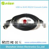 FTDI USB to serial RS232 console rollover cable for Cisco routers - RJ45