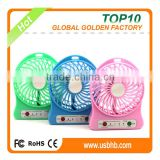 18650 Battery Operated Usb Mini Desk Fans 3 speed with powerful wind