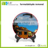 Environmental friendly activated carbon modern buildings plate table ornaments