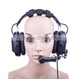 HD-202 Dual Ear noise cancellation function with microphone Intercom headset for talk back system