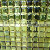 Gold beveled mirror mosaic tile for wall