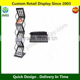 Signworld Pop-up Literature / Brochure / Magazine Display Rack Floor Standing Black 6 Pockets Zed YM5-761