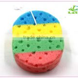 Wholesale Five colors pyriform shaped pu natural sea bath body sponge