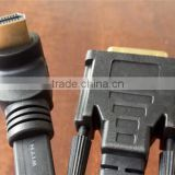 flat type 90 Degree HDMIA Male to DVI Male cable top quality cabletolink