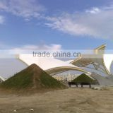 PTFE tensile fabric architecture Sculpture of landscape building for tension structure canopy in Taiwan