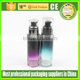 high quality 100ml glass lotion pump bottles with aluminium pump