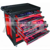 2015 new desgin professional garage cabinet / garage storage/ tool trolley with stainless top and 220pcs tools