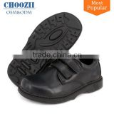 Bulk Wholesale Customized Wide Size Uniform Kids School Shoes Quality Boys Black Leather School Shoes for Student