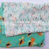 fashion fabric and lace scarf