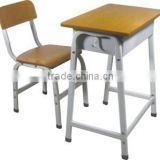 Cheap student desk and chair/metal wooden school furniture
