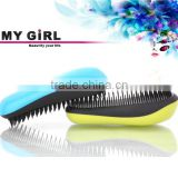 Detangling plastic custom comb easy clean private label detachable magic hairbrush ionic personalized massage tangle hair brush