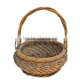 2015 year china supplier FSC handle wicker vegetable storage basket for cheap price