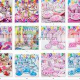 Party Girl Themed Centerpiece tableware Set of 90pcs Birthday Personalized supplies