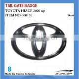 toyota hiace tail gate badge for KDH 200,commuter,van