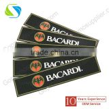 100% High Quality pvc rubber bar drinking rail mat with printed logo
