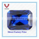 Brilliant Synthetic Sapphire #34 Baguette Shape Princess Cut with corner 8X6mm Blue Sapphire