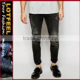 jeans men brand Distressed denim man jeans pant jeans from thailand cotton elastin jeans(LOTA020)