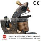 China Wholesale Merchandise True Brass Gun 8 wrap coil design tattoo machine