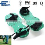 Garden Lawn Aerator Shoes With Adjustable Straps and Metal Spikes, Sandals Grass