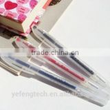 promotional Plastic transparent gel pen / cheap promotional Plastic gel pen